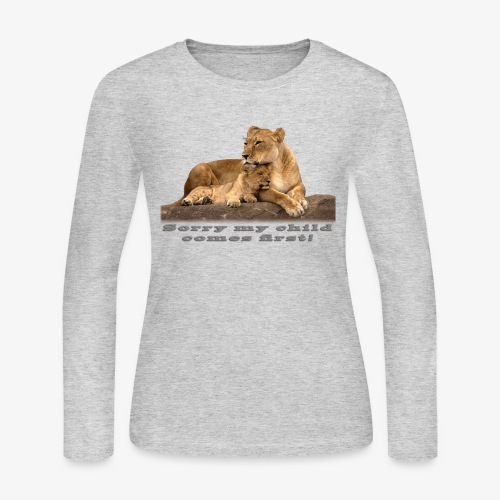 Lion-My child comes first - Women's Long Sleeve Jersey T-Shirt