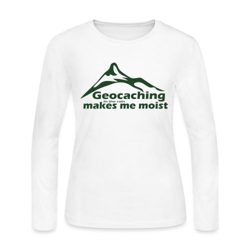 Geocaching in the Rain - Women's Long Sleeve Jersey T-Shirt