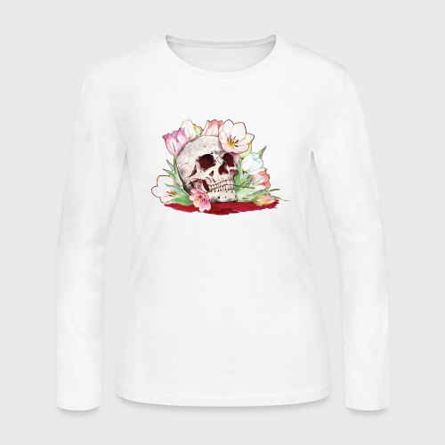 My Favorite Murder Skull - Women's Long Sleeve Jersey T-Shirt