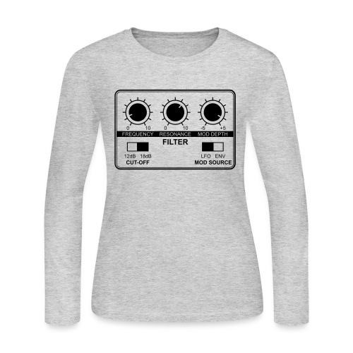 Synth Filter with Knobs - Women's Long Sleeve Jersey T-Shirt
