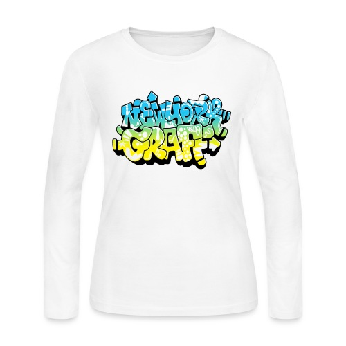 LAWE/SUB53 Design for New York Graffiti Color Logo - Women's Long Sleeve Jersey T-Shirt