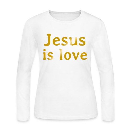 Jesus is love - Women's Long Sleeve Jersey T-Shirt