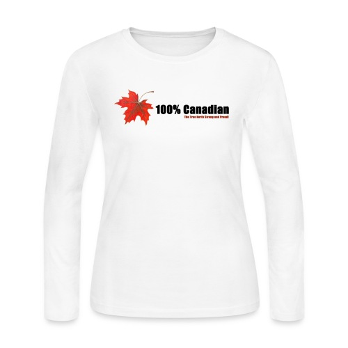 100% Canadian - Women's Long Sleeve Jersey T-Shirt
