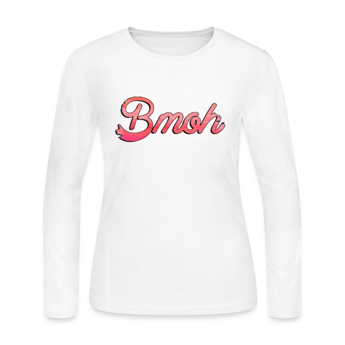 Mens Baseball T Pink Bmoh logo - Women's Long Sleeve Jersey T-Shirt