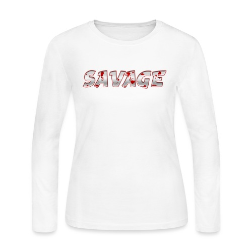 Savage Bloody - Women's Long Sleeve Jersey T-Shirt