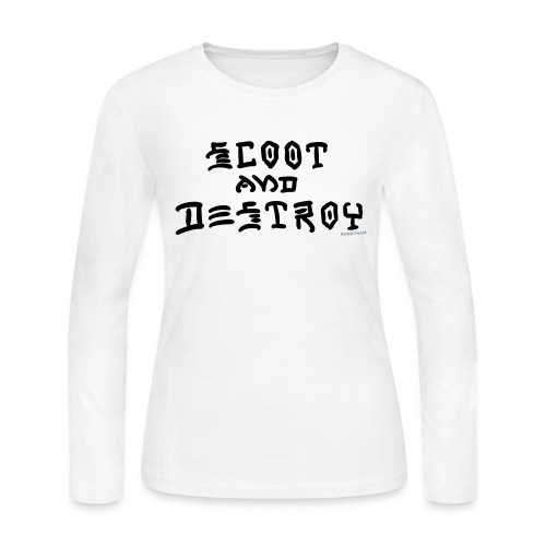 Scoot and Destroy - Women's Long Sleeve Jersey T-Shirt