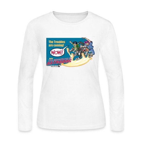 Astrodog Trouble - Women's Long Sleeve Jersey T-Shirt