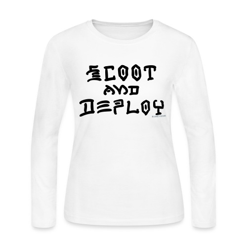 Scoot and Deploy - Women's Long Sleeve Jersey T-Shirt