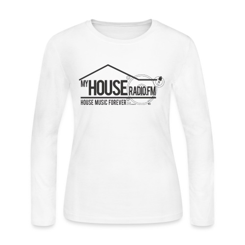 My House Radio Black Logo - Women's Long Sleeve Jersey T-Shirt
