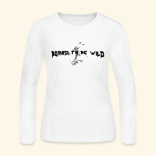 Front and back Wild Skier logos (black letters) - Women's Long Sleeve Jersey T-Shirt