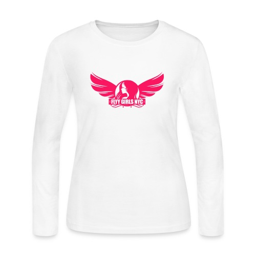 logofinalsolidpinklight png - Women's Long Sleeve Jersey T-Shirt