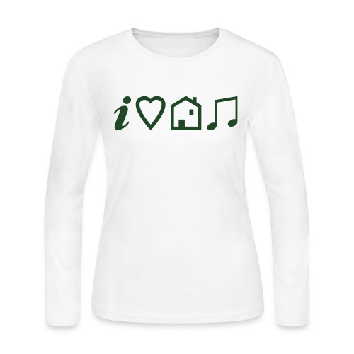 I Heart House Music - Symbolic Design 1 - Women's Long Sleeve Jersey T-Shirt