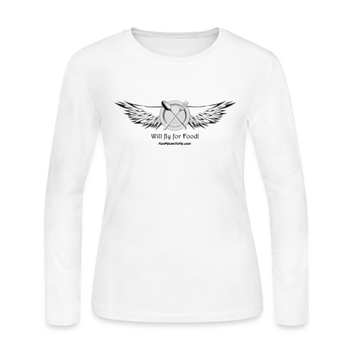 Will fly for Food! - Women's Long Sleeve Jersey T-Shirt
