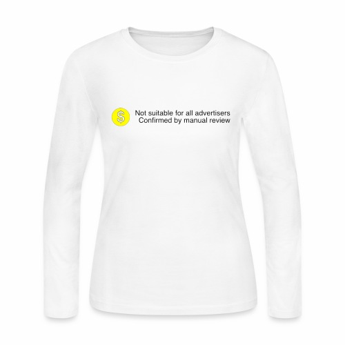Not $uitable For All Advertisers - Women's Long Sleeve Jersey T-Shirt