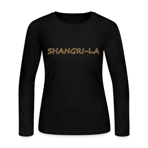 Shangri La gold blue - Women's Long Sleeve Jersey T-Shirt