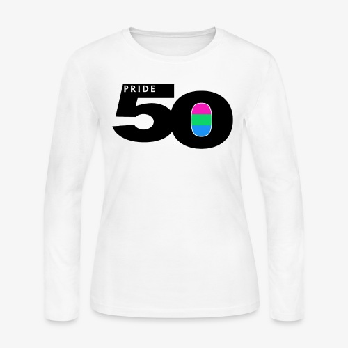 50 Pride Polysexual Pride Flag - Women's Long Sleeve Jersey T-Shirt
