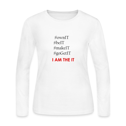 Own_It_-_Letters_Only - Women's Long Sleeve Jersey T-Shirt