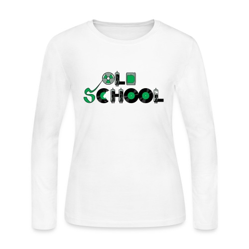 Old School Music - Women's Long Sleeve Jersey T-Shirt
