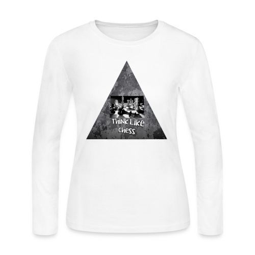 Think Like Chess Logo - Women's Long Sleeve Jersey T-Shirt