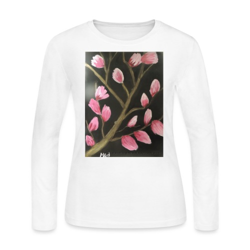 Magnolia Buds Early Spring - Women's Long Sleeve T-Shirt