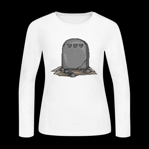 No Life Left | Funny Gamer Grave - Women's Long Sleeve Jersey T-Shirt