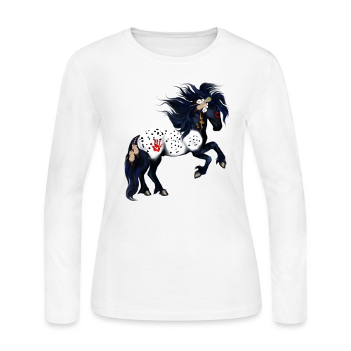Appaloosa War Pony - Women's Long Sleeve Jersey T-Shirt
