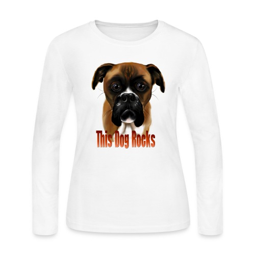 This Dog Rocks - Women's Long Sleeve Jersey T-Shirt
