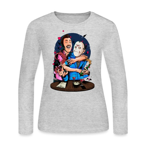 Carlos 4 Delirious Design Female png - Women's Long Sleeve Jersey T-Shirt