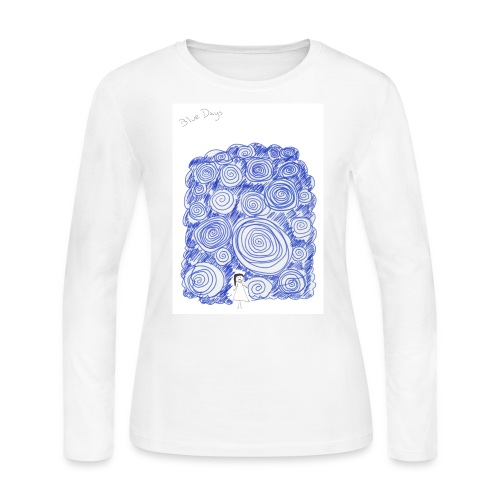 Blue Days - Women's Long Sleeve Jersey T-Shirt