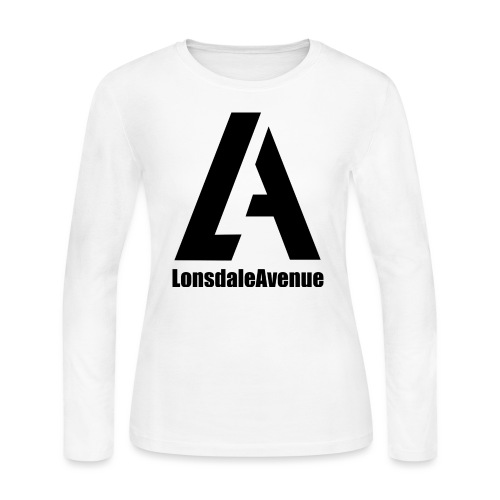 Lonsdale Avenue Logo Black Text - Women's Long Sleeve Jersey T-Shirt