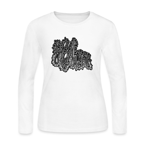 He/Him Cursive Blob - Large - Women's Long Sleeve Jersey T-Shirt