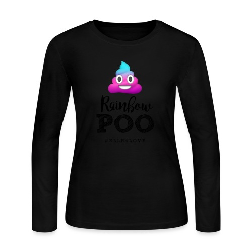 Rainbow Poo - Women's Long Sleeve Jersey T-Shirt