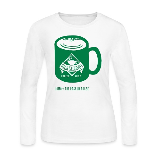 High Grounds Coffee Shop - Women's Long Sleeve Jersey T-Shirt