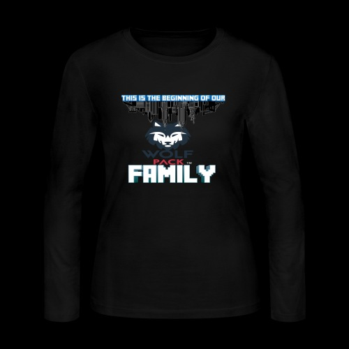 We Are Linked As One Big WolfPack Family - Women's Long Sleeve Jersey T-Shirt