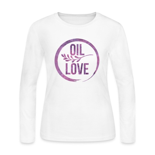 Oil Love Purple - Women's Long Sleeve Jersey T-Shirt