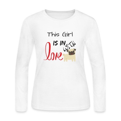 This Girl is in Love with Pappy - Women's Long Sleeve T-Shirt