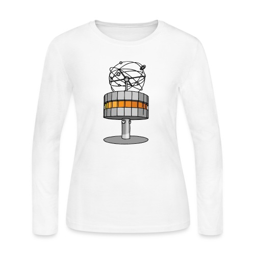World time clock Berlin - Women's Long Sleeve Jersey T-Shirt