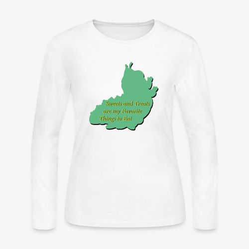 Sweets and Treats on the Chew Chew Train - Women's Long Sleeve Jersey T-Shirt