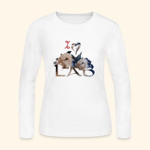 I love Lab - Women's Long Sleeve Jersey T-Shirt
