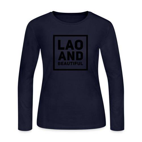 LAO AND BEAUTIFUL black - Women's Long Sleeve Jersey T-Shirt