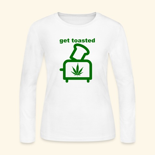 GET TOASTED - Women's Long Sleeve Jersey T-Shirt