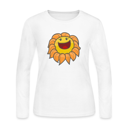 Happy sunflower - Women's Long Sleeve Jersey T-Shirt