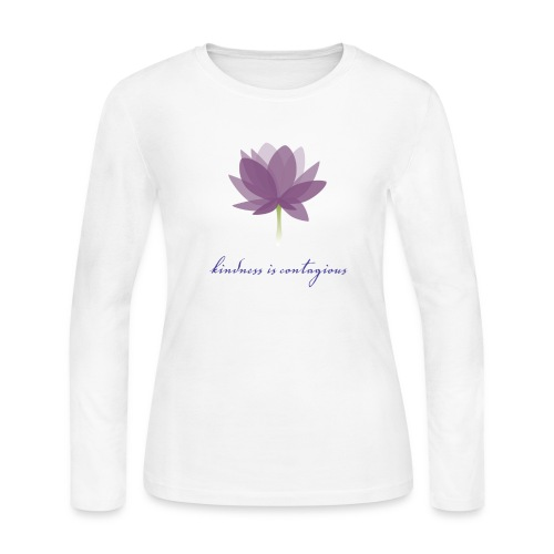 Kindness is Contagious - Women's Long Sleeve Jersey T-Shirt