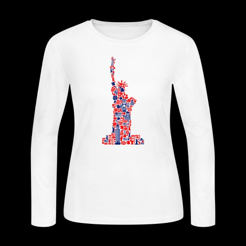 Statue of Liberty | American Icons - Women's Long Sleeve Jersey T-Shirt