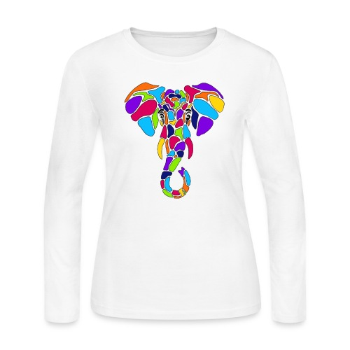 Art Deco elephant - Women's Long Sleeve Jersey T-Shirt
