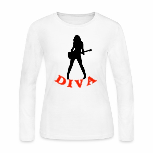 Rock Star Diva - Women's Long Sleeve Jersey T-Shirt