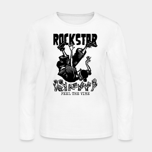 rockstar rock star - Women's Long Sleeve Jersey T-Shirt