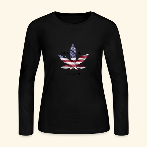VOTE TO LEGALIZE - AMERICAN CANNABISLEAF SUPPORT - Women's Long Sleeve Jersey T-Shirt