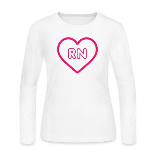 RN Nurse Quote, Gift - Women's Long Sleeve Jersey T-Shirt