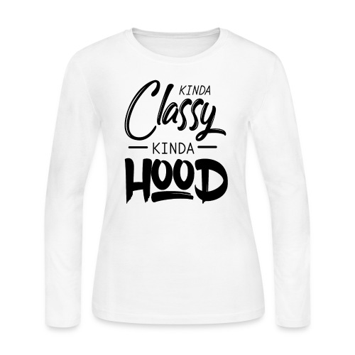 kinda classy black - Women's Long Sleeve Jersey T-Shirt